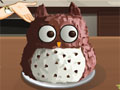 Сара готовит торт в виде совы