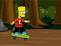 Барт Симпсон катается на скейтборде