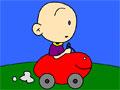 Раскрасьте автомобиль малыша