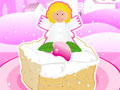 Новогодний торт с ангелом