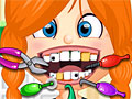 Непослушная девочка у дантиста