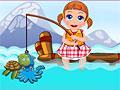 Малышка Света на рыбалке
