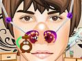 Джастин Бибер лечит нос