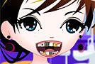 Молодая девушка лечит зубы