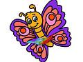 Раскрась бабочку
