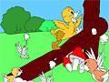 Детская раскраска: маленькие птички