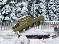Ударный танк зимой