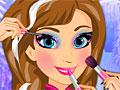 Анна в школе макияжа