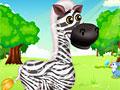 Милая зебра в салоне