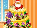 Художественное оформление рождественского торта