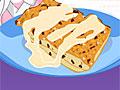 Хлебный пудинг с ванильным соусом