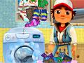 Сабвей Серфер стирает одежду