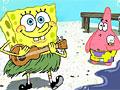Спанч Боб на пляже пазл