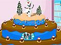 Праздничный торт для Олафа