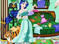 Принцесса Жасмин в грязной комнате