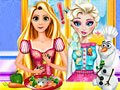 Принцессы Диснея: Кулинарное сражение Эльзы и Рапунцель