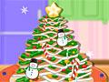 Имбирное печенье в форме новогодней елки