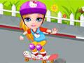Малышка Барби упала со скейта