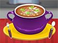 Испанский суп с чоризо и рыбой