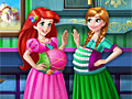 Принцессы Диснея: Беременные Анна и Ариэль