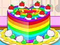 Приготовление красочного торта