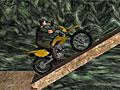 Трюки на мотоцикле в шахте
