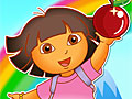 Даша собирает фрукты