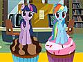 Девушки Эквестрии украшают торт