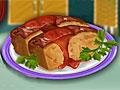 Мясной рулет с коричневым сахаром