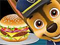 Щенячий патруль готовит бургер