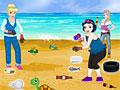 Принцессы Диснея: Очистка пляжа