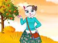 Говорящий кот: Белая кошечка осенью