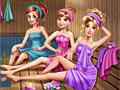 Принцессы Диснея в сауне