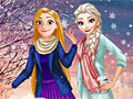 Принцессы Диснея: Зимний школьный лук