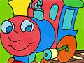 Милый поезд: Онлайн раскраска