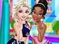 Принцессы Диснея: Эльза и Тиана идут за покупками