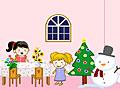 Рождественский кукольный домик