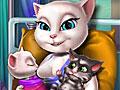 Говорящий кот: Анжела рожает близнецов