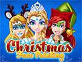 Принцессы Диснея: Рождественский фейс-арт