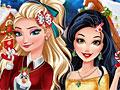Принцессы Диснея в рождественской стране