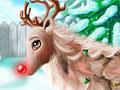 Рождественский макияж Рудольфа