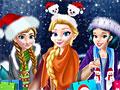 Принцессы Диснея в рождественском торговом центре