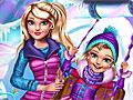 Зимние развлечения Барби