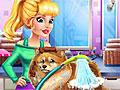 Одри заботится о щенке