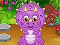 Малышка в парке динозавров
