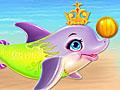 Уход за малышом дельфином