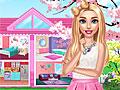 Розовый дом Барби