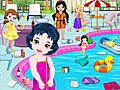 Маленькие принцессы Диснея чистят бассейн