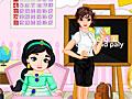 Принцессы Диснея: Школьный интерьер