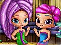 Шиммер и Шайн в сауне